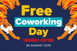 Free Coworking Day Merdeka Edition : 28th August 2019 (4 locations)