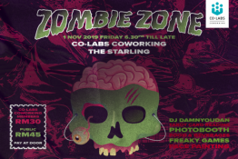 Co-labs Coworking presents: Zombie Zone : a spooky night of excitement & frights